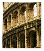 A Painting The Colosseum Fleece Blanket