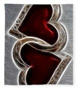 A Pair Of Hearts Fleece Blanket