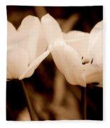 A Pair Of Tulips Fleece Blanket