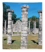 A Panoramic View Of Columns Surround Fleece Blanket