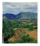A Panoramic View Of The Valle De Fleece Blanket