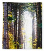 A Path In The Pines Fleece Blanket