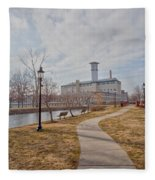 A Path To The Factory Fleece Blanket