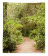 A Path To The Redwoods Fleece Blanket