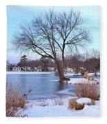 A Peaceful Winter Day Fleece Blanket