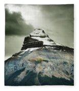 A Peak Of A Mountain Top In The Rocky Fleece Blanket