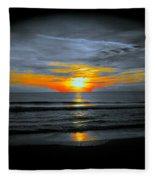 A Phoenix Firebird Sunset Fleece Blanket