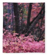 A Pink Autumn  Fleece Blanket