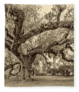 A Place For Dying Sepia 2 Fleece Blanket