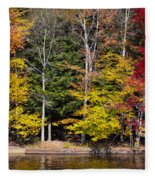 A Place To Relax In The Adirondacks Fleece Blanket