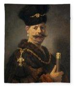 A Polish Nobleman Fleece Blanket