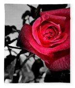 A Pop Of Red - Rose  Fleece Blanket