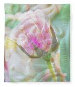 A Porcelain Rose Fleece Blanket