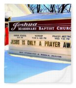 A Prayer Away Fleece Blanket
