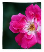 A Pretty Pink Rose Fleece Blanket