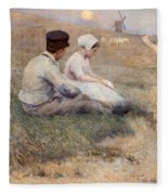 A Proposal In Picardy Fleece Blanket