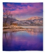 A Purple Surrender Fleece Blanket