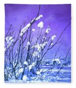 A Purple Winter Fleece Blanket