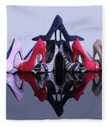 A Pyramid Of Shoes Fleece Blanket