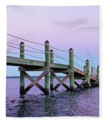 A Quiet Evening At Dusk With A Moonrise Fleece Blanket