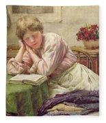 A Quiet Read Fleece Blanket