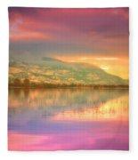 A Rainbow Morning Fleece Blanket