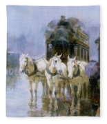 A Rainy Day In Paris Fleece Blanket