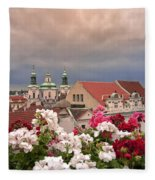 A Rainy Day In Prague 2 Fleece Blanket