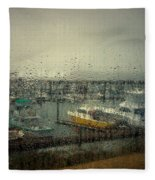 A Rainy Evening On The Port Fleece Blanket