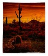 A Red Desert  Fleece Blanket
