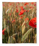 A Red Dressed Beauty  Fleece Blanket