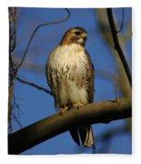 A Red Tail Hawk Fleece Blanket