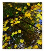 A Reflection Amongst The Leaves Fleece Blanket