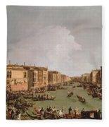 A Regatta On The Grand Canal Fleece Blanket