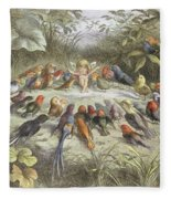 A Rehearsal In Fairy Land, Illustration Fleece Blanket