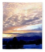 A Remarkable Winter Evening Fleece Blanket