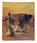 A Rest In The Desert Fleece Blanket