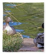 A Restful Moment Fleece Blanket