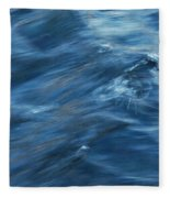 A River Flows Gently By Fleece Blanket