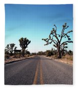 A Road Leads Through Joshua National Fleece Blanket