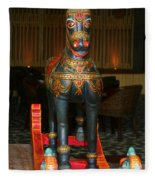 A Rocking Horse Of Many Colors Fleece Blanket