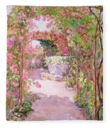 A Rose Arbor And Old Well, Venice Fleece Blanket