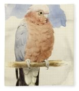 A Rose Breasted Cockatoo Fleece Blanket