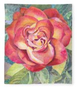 A Rose For Mom Fleece Blanket