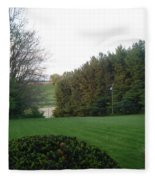 A Rose With A View Fleece Blanket