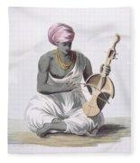 A Sarinda, Or Hindostan Type Violin Fleece Blanket
