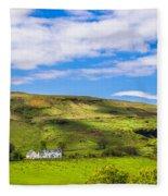 A Scottish Hillside Fleece Blanket