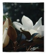 A Sea Of Magnolias Fleece Blanket