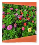 A Sea Of Zinnias 06 Fleece Blanket