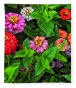 A Sea Of Zinnias 07 Fleece Blanket